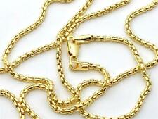 """14K 20"""" Inch 1.7mm Yellow Gold Round Box Link Necklace Pendant Chain"""