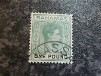 BAHAMAS POSTAGE STAMPS SG157A ONE POUND GREEN VERY-FINE USED