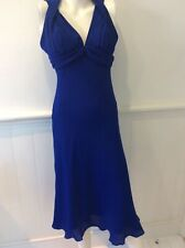 Gina Bacconi cobalt blue halter neck dress size uk 12 special occasion