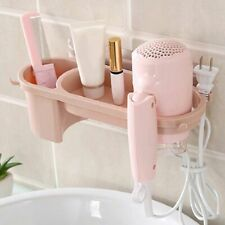 Bathroom Wall Suction Cup Hair Dryer Holder Hanger Shelf Stand Comb Rack Storage