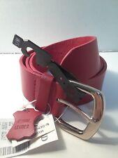 Women Red genuine leather Belts