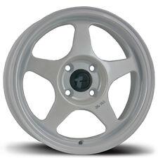 Avid1 AV08 15X6.5 Rims 4x100 +35 White Wheels (Set of 4)