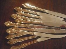 Wm ROGERS Oneida Silverplate Old South SIX (6) dinner knives