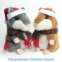 Cute Talking Hamster Christmas Gift Speak Sound Record Pet Educational Plush Toy