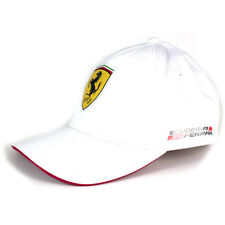 Ferrari Scudetto White Padded Baseball Cap