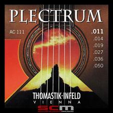 THOMASTIK PLECTRUM AC111 BRONZE 11 - 50 GAUGE ACOUSTIC GUITAR STRINGS LIGHT NEW