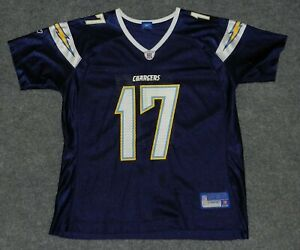 REEBOK FOOTBALL + PHILIP RIVERS #17 SAN DIEGO CHARGERS NFL Blue sz S Jersey