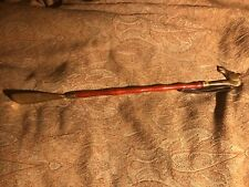 Excellent Brass/Wood Horse Head Shoe Horn With Leather Strap. 21""