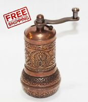 Turkish Copper Pepper Salt Spice Seed Mill Grinder 4.3 inch