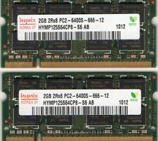 New Dell 4GB (2x 2GB Kit) DDR2 PC2-6400 800MHz Laptop/Notebook RAM Memory