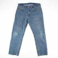 WRANGLER  Blue Denim Relaxed Straight Jeans Mens W36 L32