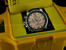 NIB Invicta Men I Force Lefty S2 Chrono Rose Gold IP Braided Dial SS Lethr Watch