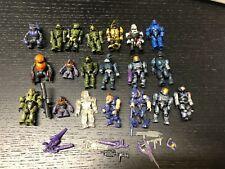 Lot of 20 Halo Mega Blok Minifigs Brutes Spartans Lego Compatible Lot N566