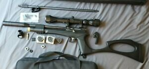 Diana Bandit 0.22 PCP Pistol/Rifle Combo, 3-9×32 scope, Case, Extra Mags, MORE!