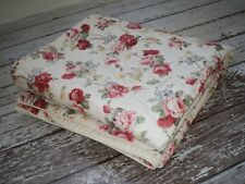 RALPH LAUREN Danielle White Floral Custom Bedspread Quilt Full Size Shabby EUC