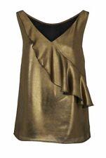Ashley Brooke Damen Designer-Blusentop, gold-schwarz, GR 46 NEU