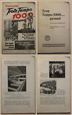 Wolf Trotz Tempo 1000 gesund 1930 Gesundheit Medizin Geschichte Fürsorge sf