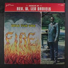 REV. W. LEO DANIELS: Build Your Own Fire LP (2 inches of split seams, minor sea