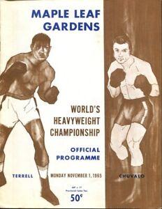 1965 Ernie Terrell v George Chuvalo Heavyweight Title Program 11/1 52595b3