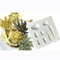Silicone Succulent Plants Cake Mold Mould Sugar Fondant Baking Decor Tool Home