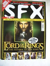 Sfx Magazine October 2003 Lord of the Rings Smallville Buffy Matrix Issue 109