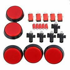 LED Light Lamp 60mm Dia Big Round Arcade Video Game Player Push Button Switch