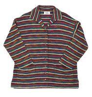 Womens Missoni Sport Vintage Knit Cardigan Jumper Wool Striped Size IT42 / UK10