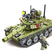 324pcs Militär Panzer Gepanzerter Modell Bausteine mit Armee Soldat Figuren Toys
