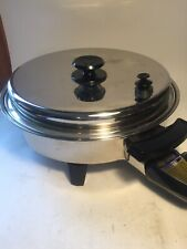 """Kitchen Craft West Bend Stainless Steel LIQUID CORE 11.5"""" Electric Skillet 246B"""