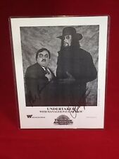 WWE WWF THE UNDERTAKER & PAUL BEARER SIGNED PROMO PHOTO AND POSTER