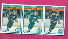3 X 1982-83 OPC # 113 OILERS LOWE  2ND YEAR CARD (INV# C4870)