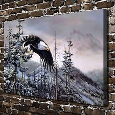 Subduction of the eagle Paintings HD Print on Canvas Home Decor Wall Art Picture