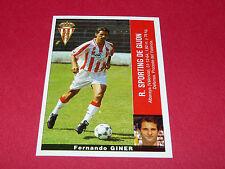 FERNANDO GINER R. SPORTING GIJON PANINI LIGA 95-96 ESPANA 1995-1996 FOOTBALL