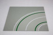 Lego® 2359 Straßenplatte Platte 32 x 32 Kurve grau mit Fahrradweg road plate