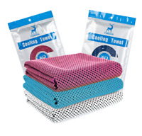 Reusable Ice Silk Towel Absorb Sweat for Sport Fitness Instant Cooling Towel