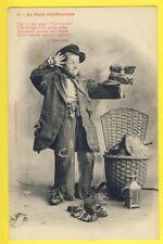 """Carte Postale 1900 BERGERET à NANCY """"Le petit CHIFFONNIER"""" Hotte Biffin KÉPI CAP"""