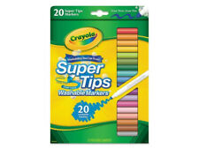 New Crayola 20ct Washable Super Tips Markers 20 Color Variety Pack
