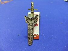 vtg badge sweetheart sword dirk scabbard filigree silver ? 1900s trench art ?