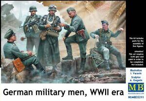 Masterbox 1/35 Modèle Kit 35211 Allemand Militaire Hommes, WWII Era (5 Figurine