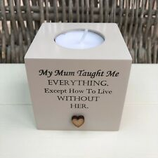 Shabby Personalised Chic Candle In Memory of a Loved one Mum Nanna Nana Dad etc
