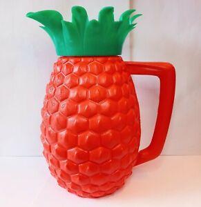 Hawaiian Luau pineapple pitcher vintage 1960s plastic minerware tiki style