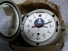 Russian Marine clock, Vintage submarine Logo painted on Dial, Working