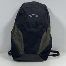 Oakley Backpack Bookbag Day Pack Black Green Padded Straps