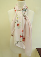 NEW!!TED BAKER Floral Print Split Long Scarf pink -PRETTY slight second