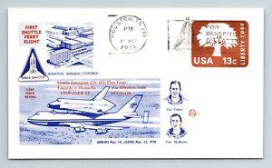 1978 Shuttle Enterprise 1st Shuttle Flight - Vibration Tests -Blue Cachet -F2459