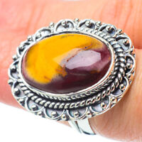 Large Mookaite 925 Sterling Silver Ring Size 7.25 Ana Co Jewelry R31847F