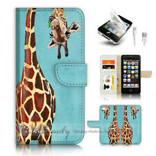 ( For iPhone 5 / 5S / SE ) Wallet Case Cover P4131 Giraffe
