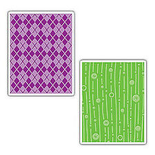 Sizzix Embossing Folders *Argyle and Lines & Circles* 390670