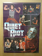 Vintage 1984 rock and roll QUIET RIOT concert Poster 1041
