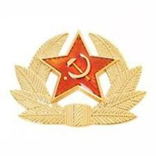 NEW USSR RUSSIAN SOVIET RED STAR BADGE FOR TRAPPER COSSACK HAT FREE UK POSTAGE